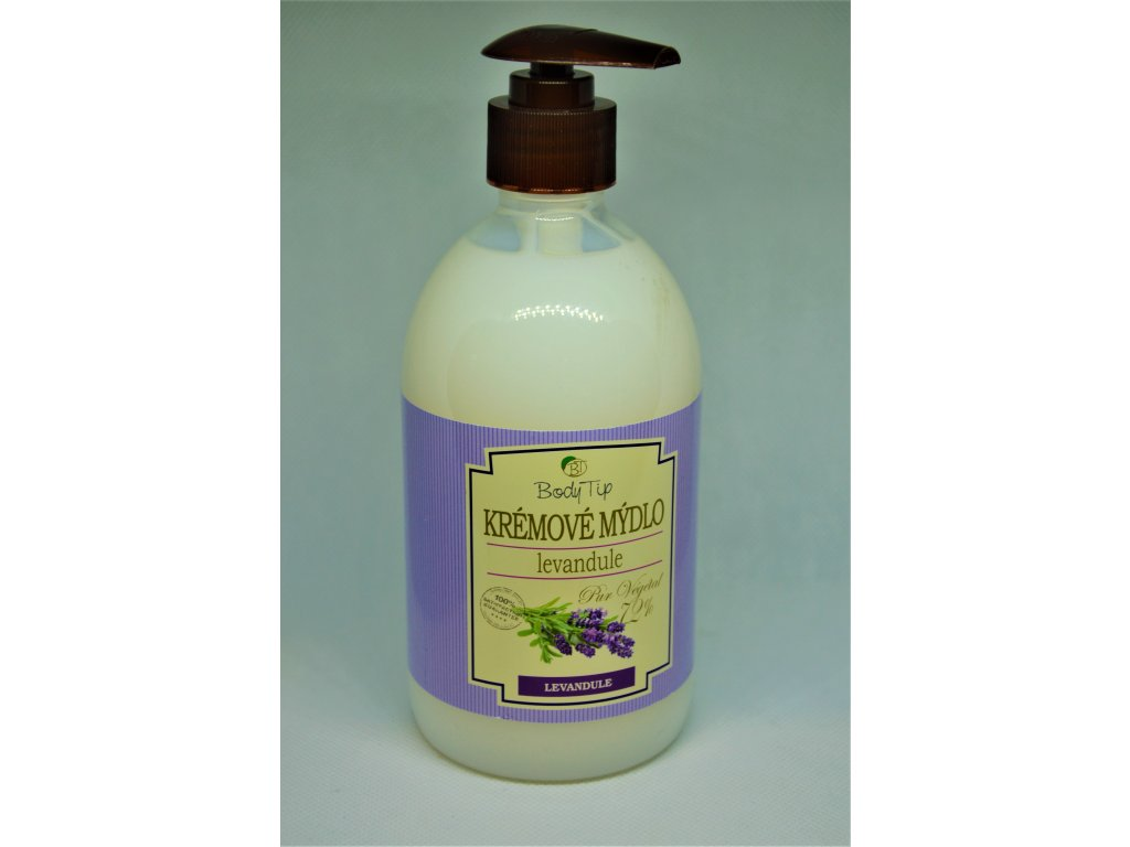 BODY TIP Hydratační krémové mýdlo Levandule