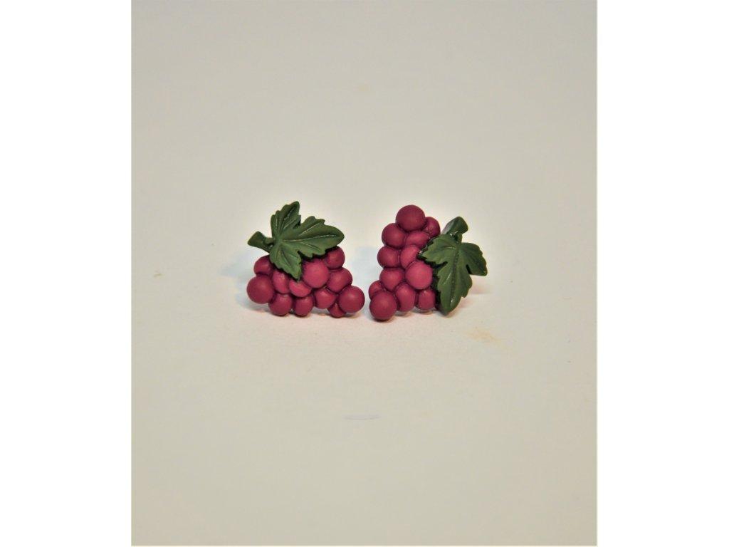Náušnice červené hrozny