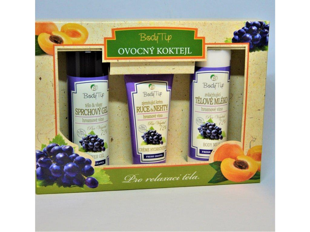 BODY TIP Ovocný koktejl - dárková kazeta s hroznovým vínem