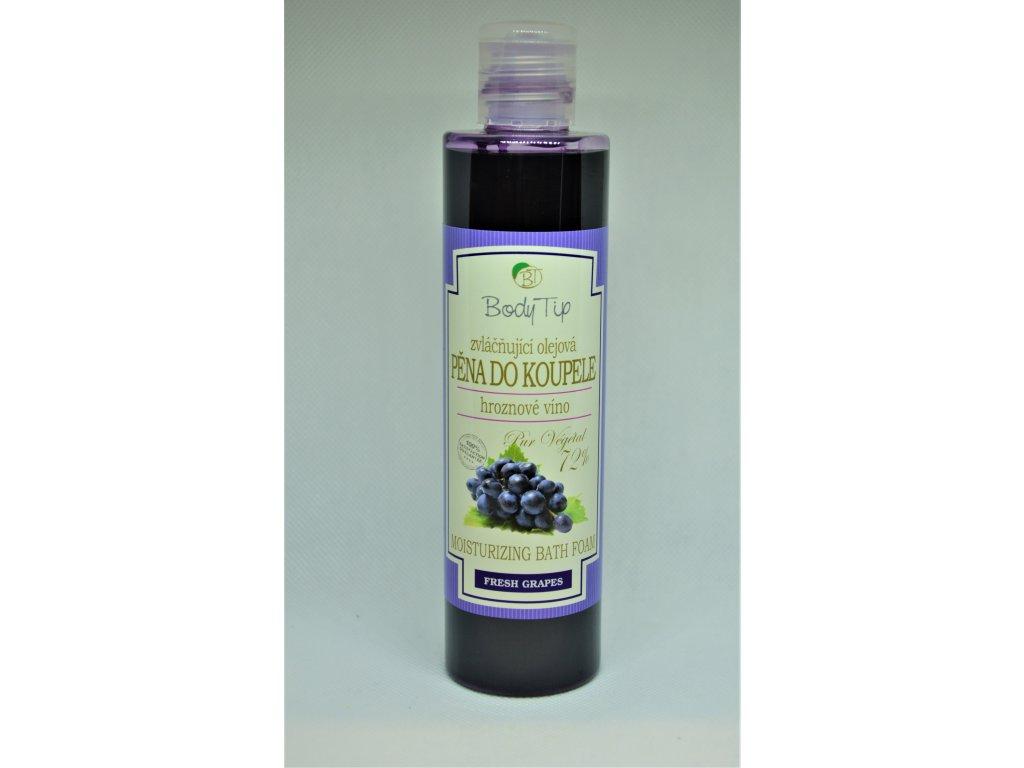 BODY TIP Zvláčňující olejová pěna do koupele hroznové víno