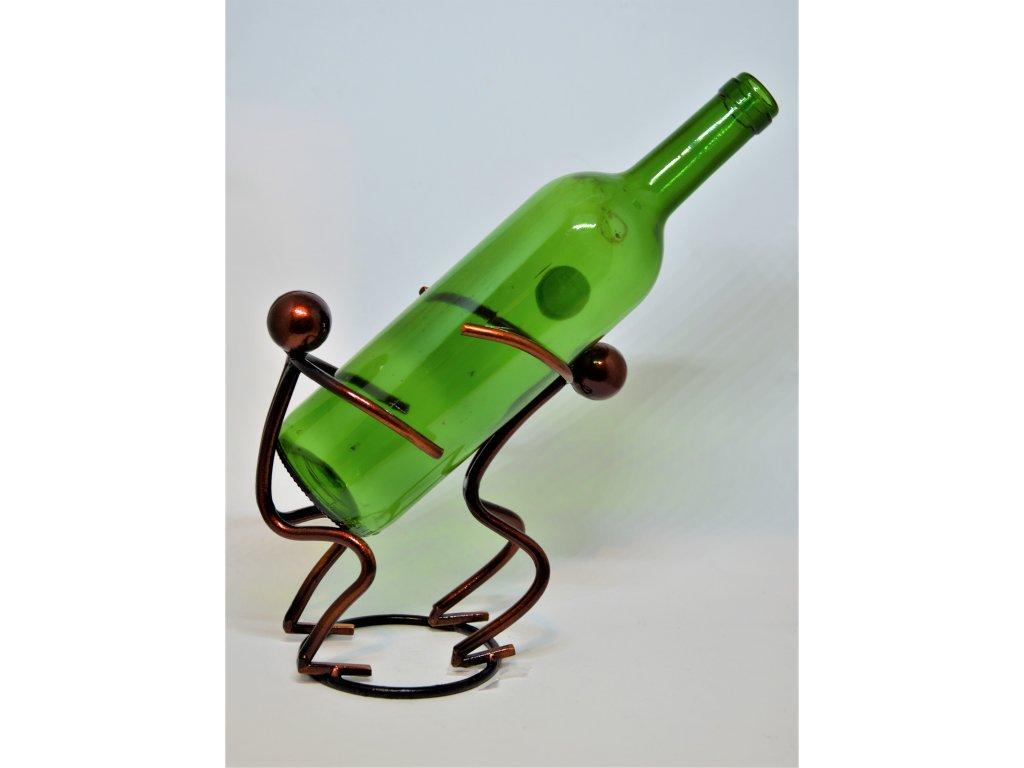 Kovový stojan na víno Dva panáčci