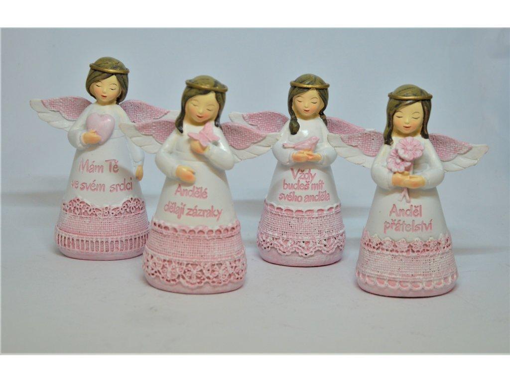 Bílo-růžový andělíček