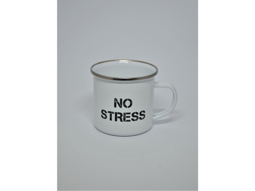 Hrnek s nápisem No stress