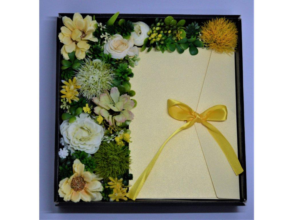 Dárková krabička s obálkou