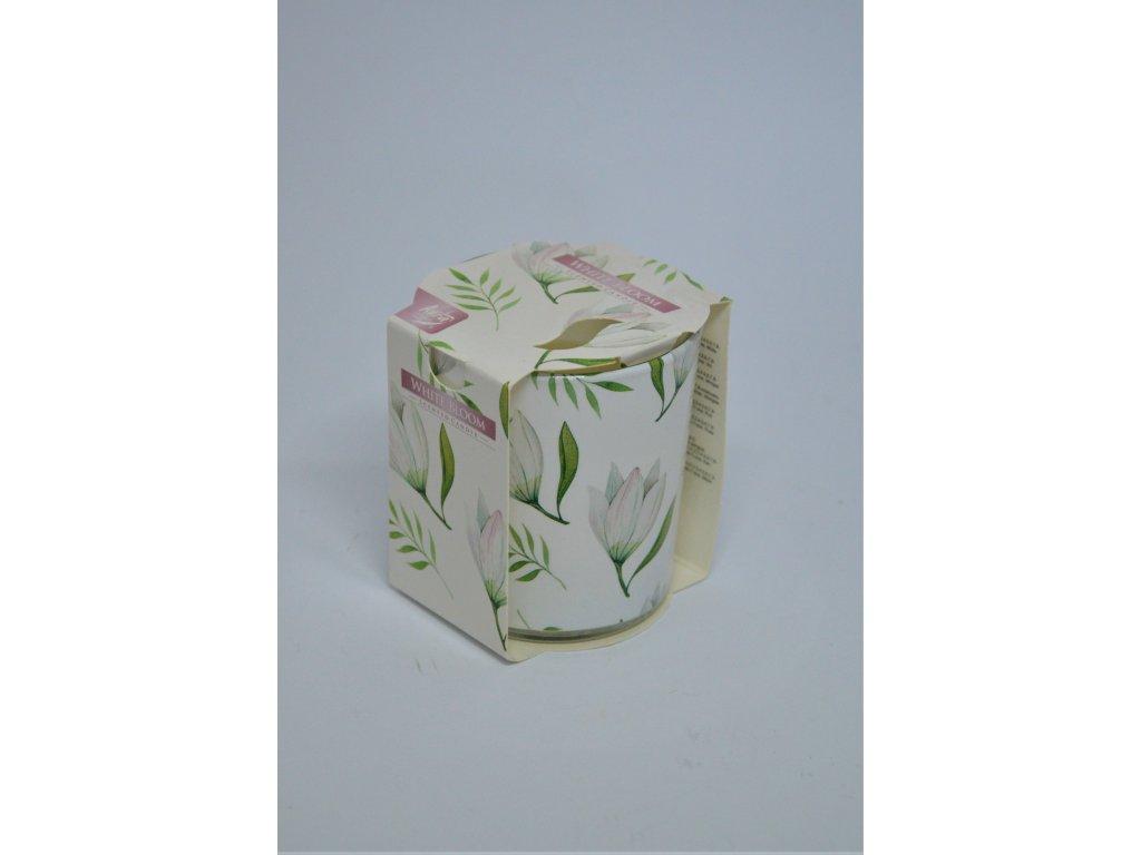 Vonná svíčka ve skle Bílý květ