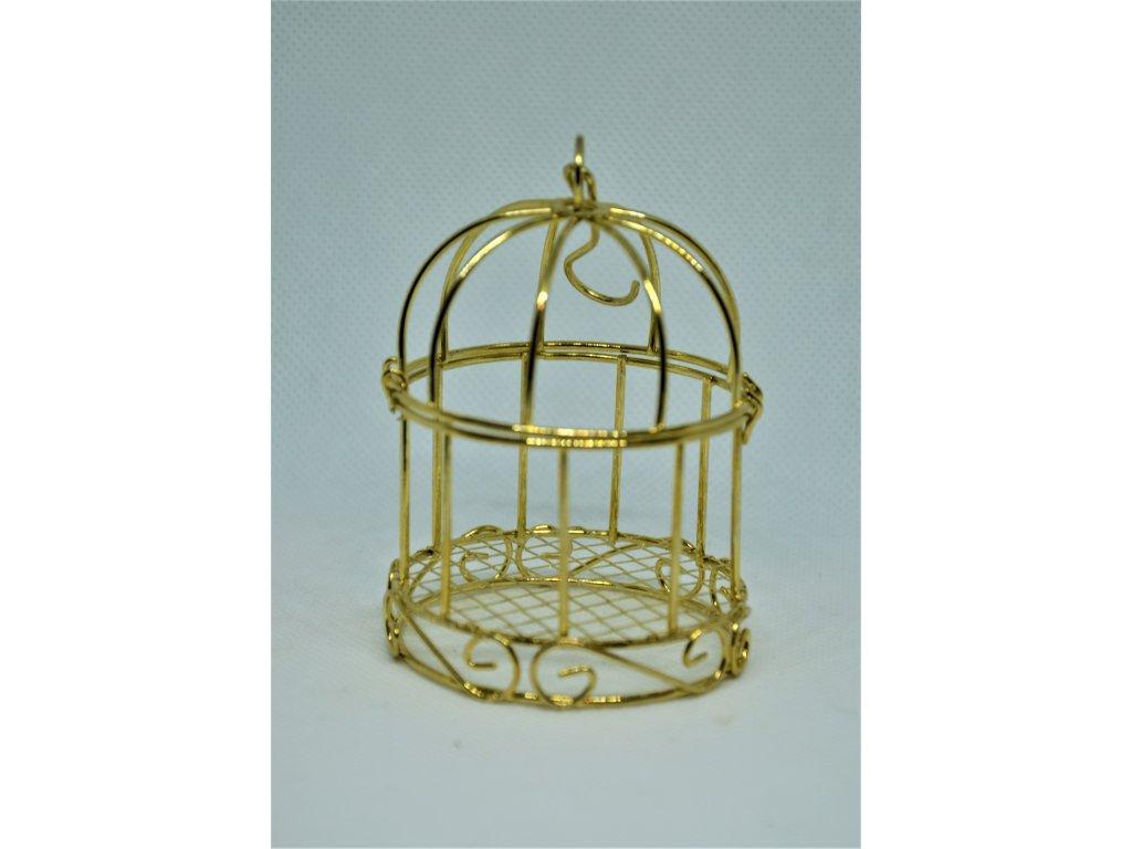 Zlatá kovová klec na čajovou svíčku