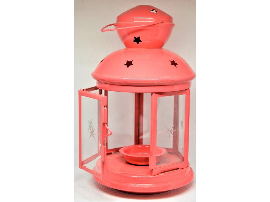 Plechová lucerna na čajovou svíčku