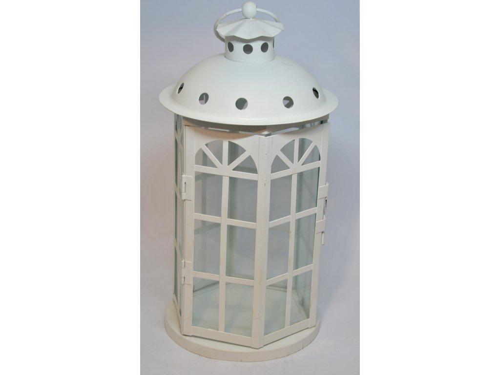 Plechová lucerna s prosklenými okénky