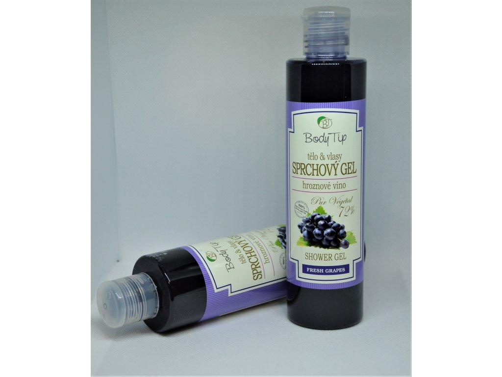 BODY TIP Sprchový gel do koupele hroznové víno