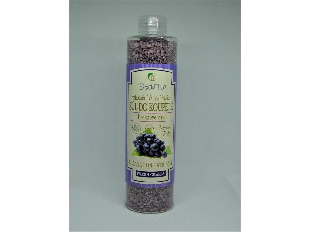 BODY TIP Relaxační sůl do koupele hroznové víno
