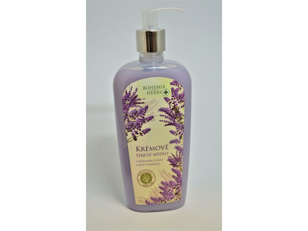 Bohemia Herbs Lavender Krémové tekuté mýdlo s vůní levandule