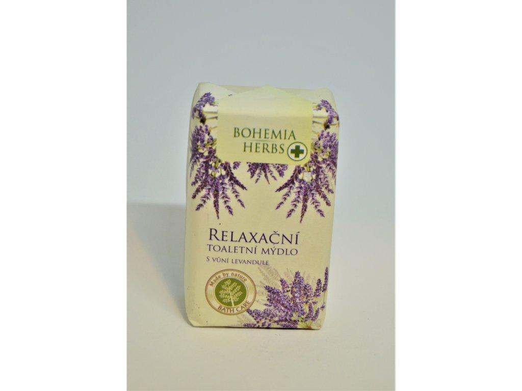 Bohemia Herbs Lavender Relaxační toaletní mýdlo s vůní levandule