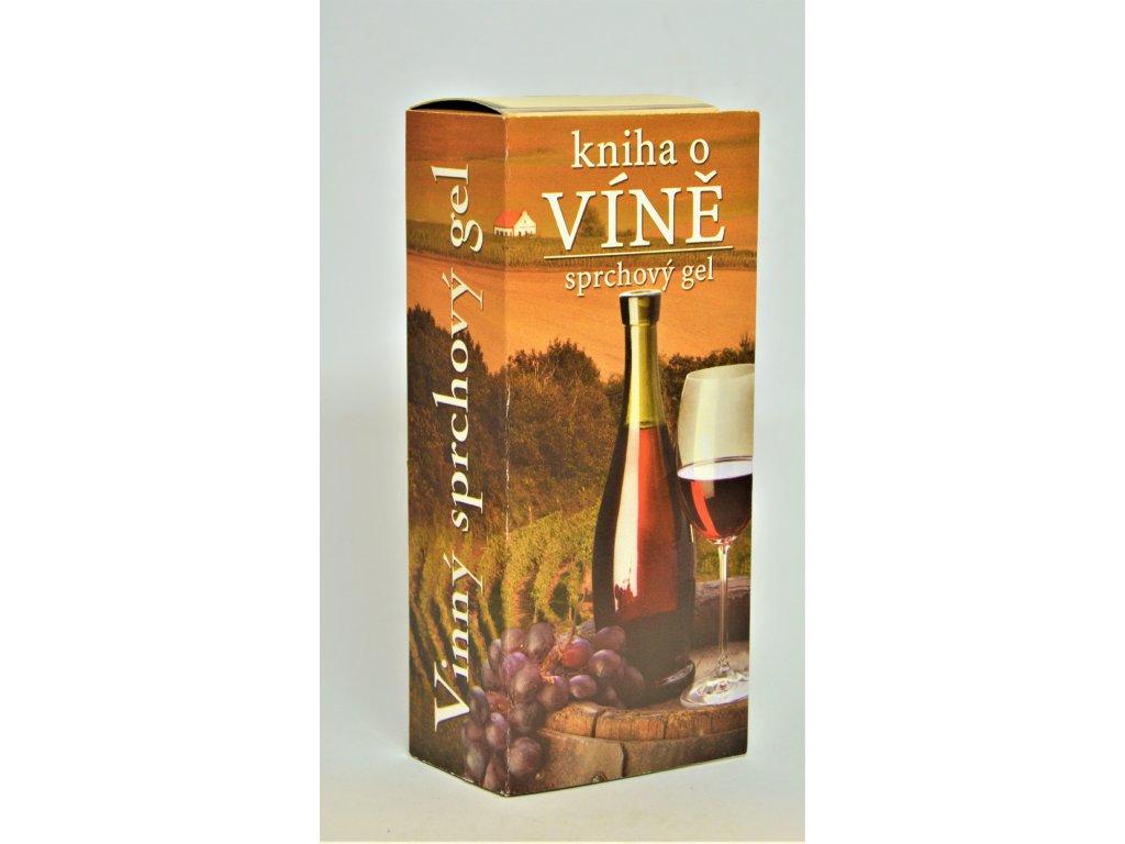 Dárkový sprchový gel Kniha o víně