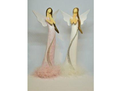 Vysoký andělíček s peříčky