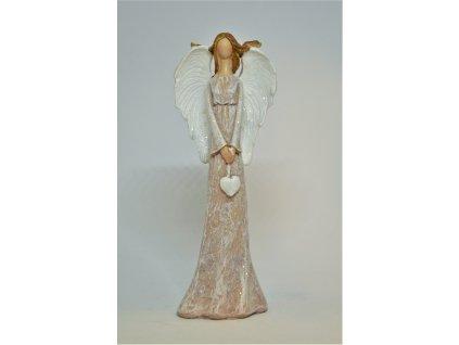 Anděl ve sv. růžových šatech