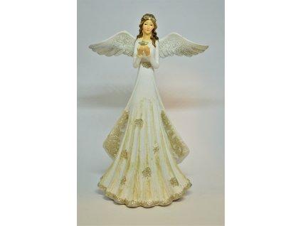 Krásný stříbrno-zlatý anděl