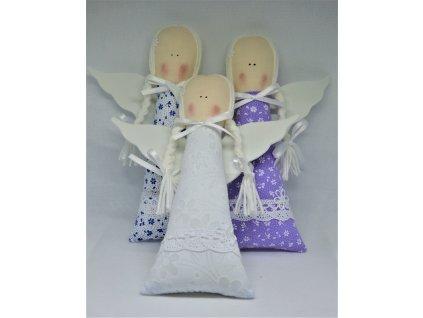 Látkový andělíček panenka