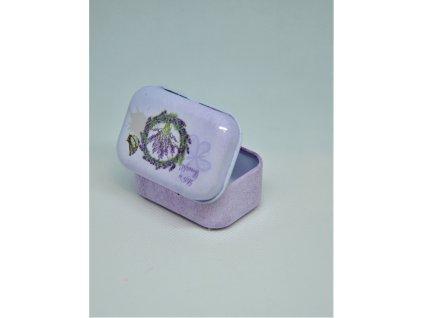 Levandulová mini plechová krabička