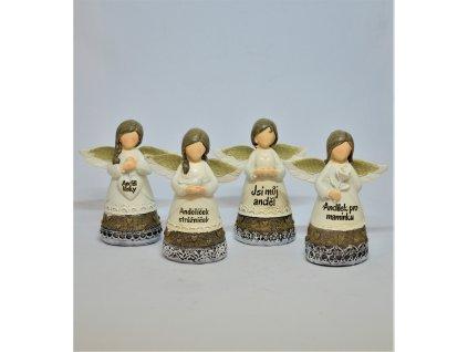 Hnědo-bílý andělíček