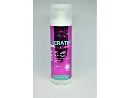 VIVACO Keratin a kofein posilující šampon pro ženy