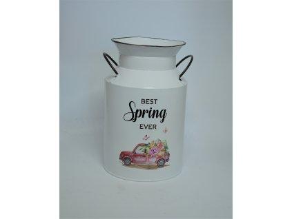 Plechová konev/váza SPRING