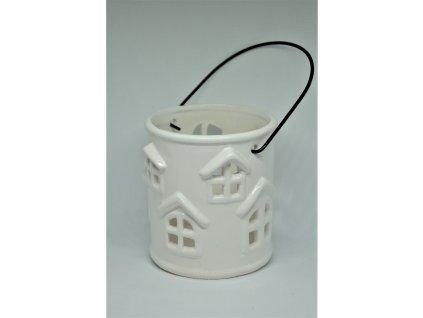 Bílý porcelánový svícen na čajovou svíčku