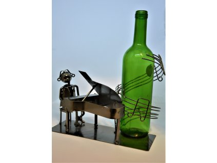 Kovový stojan na víno Pianista
