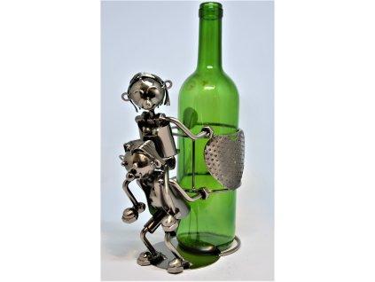 Kovový stojan na víno Zamilovaní
