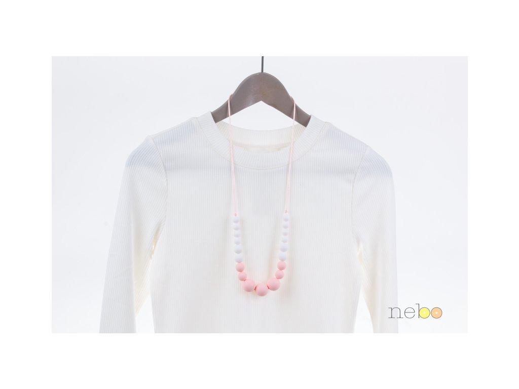 Kojicí korále - Annabel růžovo bílé