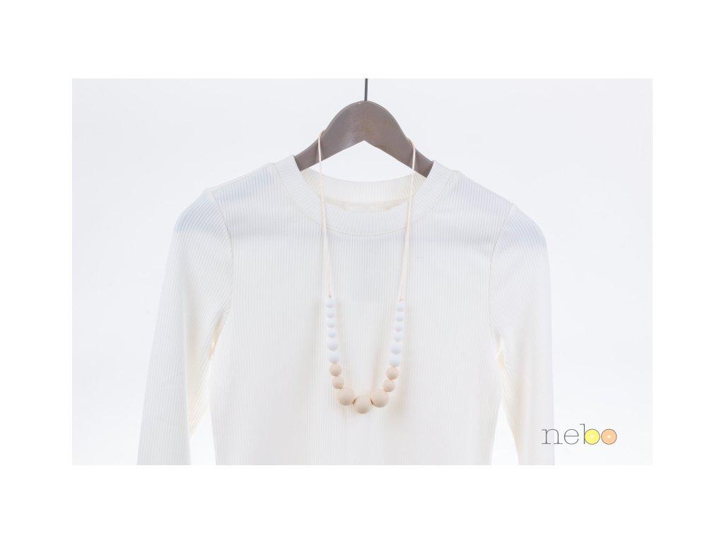 Kojicí korále Annabel - krémovo bílé