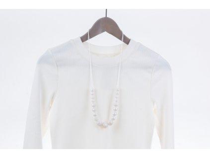 Kojicí korále Annabel - perleťové