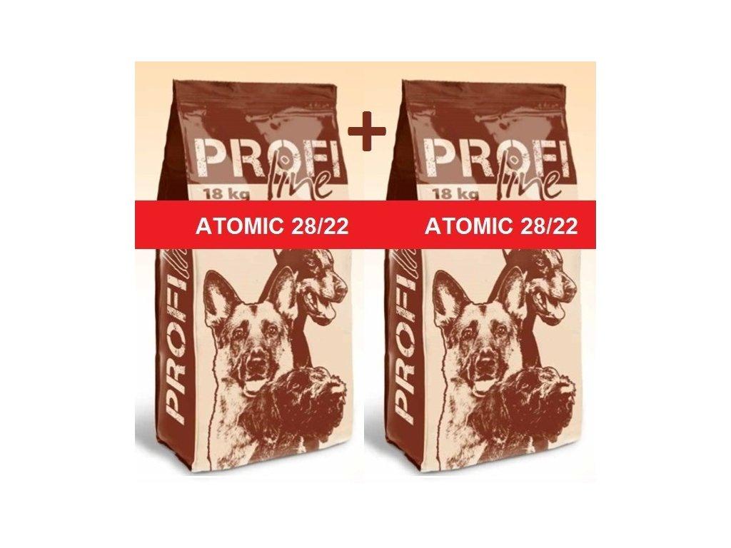 Premil Atomic 18+18 kg - kachna + krůta - výhodné balení