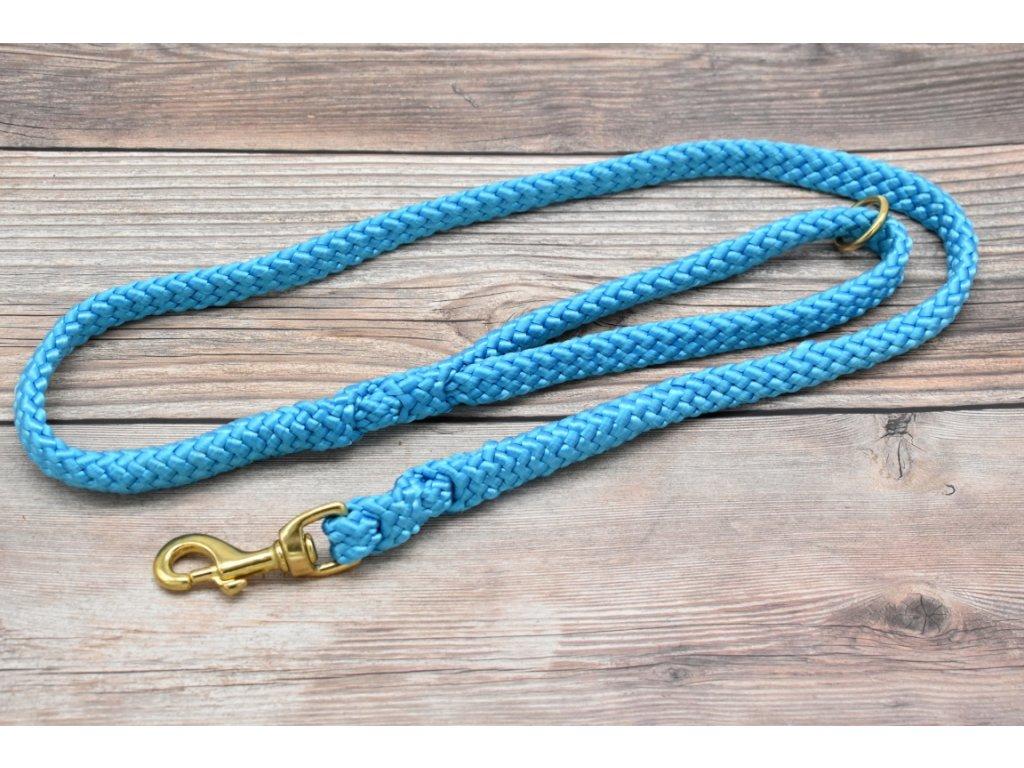 Vodítko klasické pro velké psy - délka 110 cm, ploché lano šířky 17 mm