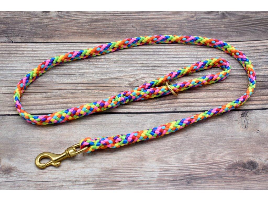 Vodítko klasické pro velké psy - délka 130 cm, ploché lano šířky 17 mm