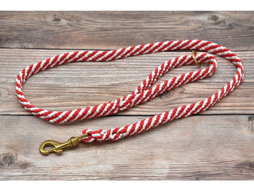 Vodítko klasické pro velké psy - délka 150 cm, ploché lano šířky 17 mm
