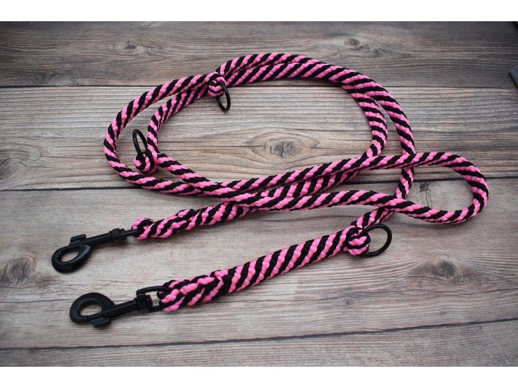 Vodítko přepínací pro velké psy - délka 220 cm, ploché lano šířky 17 mm
