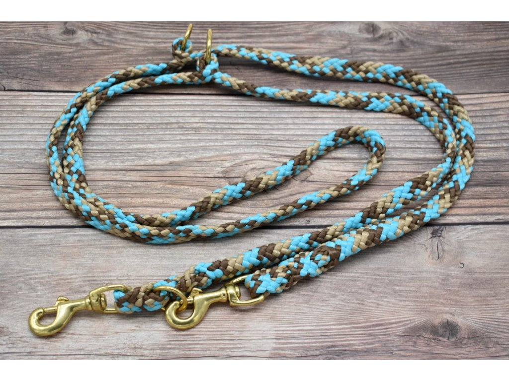 Vodítko přepínací pro velké psy - délka 250 cm, ploché lano šířky 17 mm