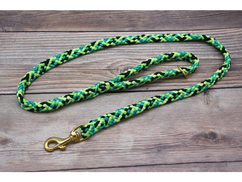 Vodítko klasické pro střední psy - délka 150 cm, ploché lano šířky 17 mm