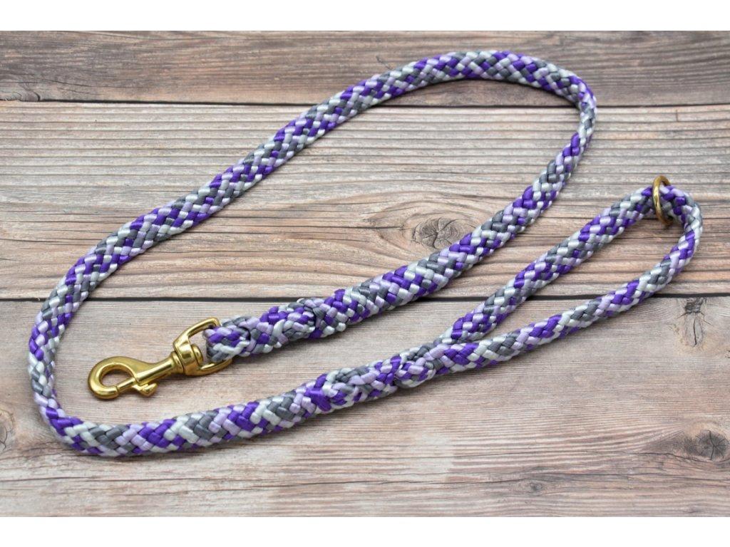 Vodítko klasické pro střední psy - délka 180 cm, ploché lano šířky 17 mm