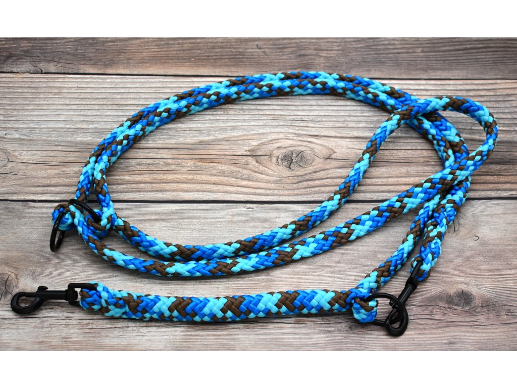 Vodítko přepínací pro střední psy - délka 250 cm, ploché lano šířky 17 mm