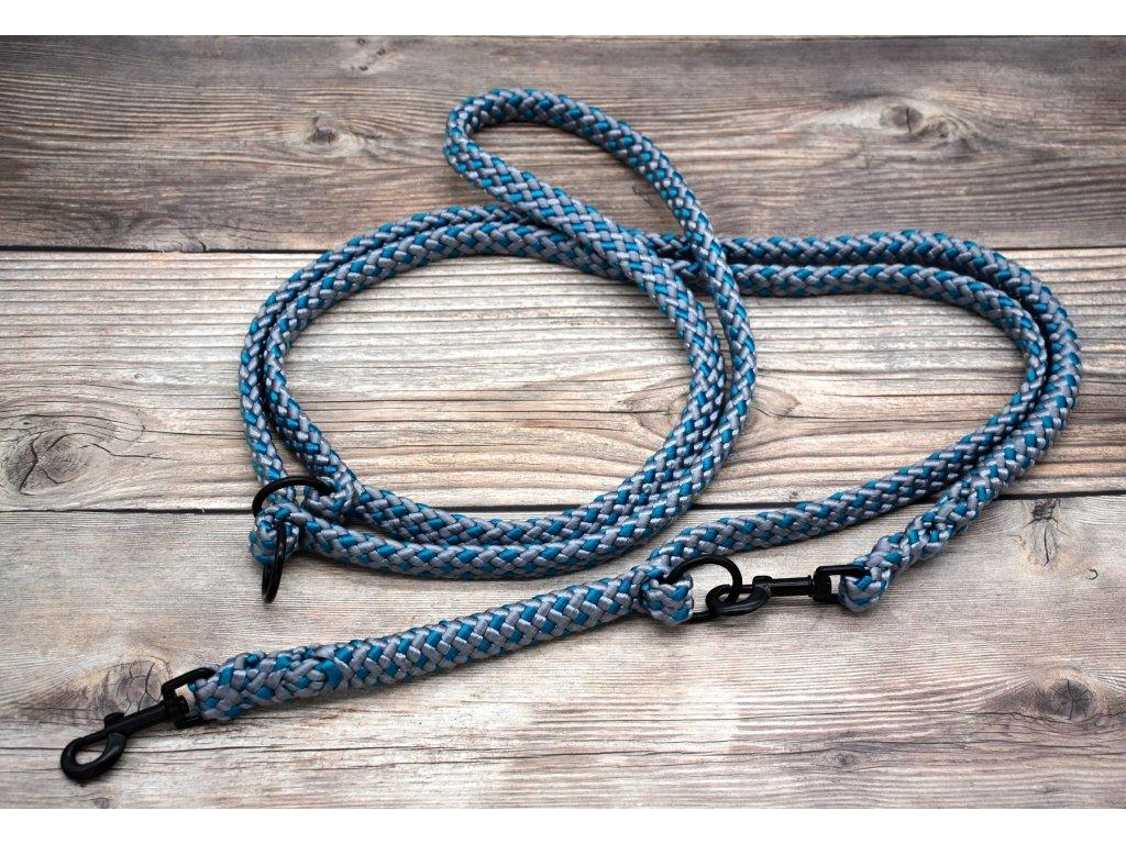Vodítko přepínací pro střední psy - délka 280 cm, ploché lano šířky 17 mm