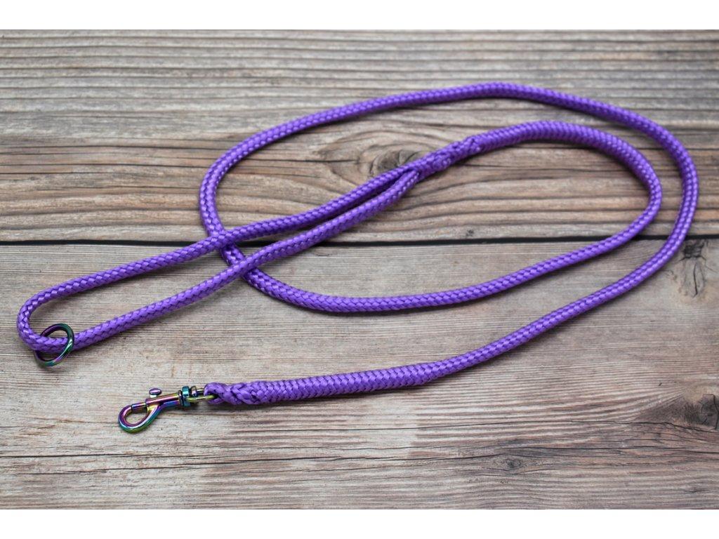 Vodítko klasické pro mini psy - délka 180 cm, ploché lano šířky 9 mm