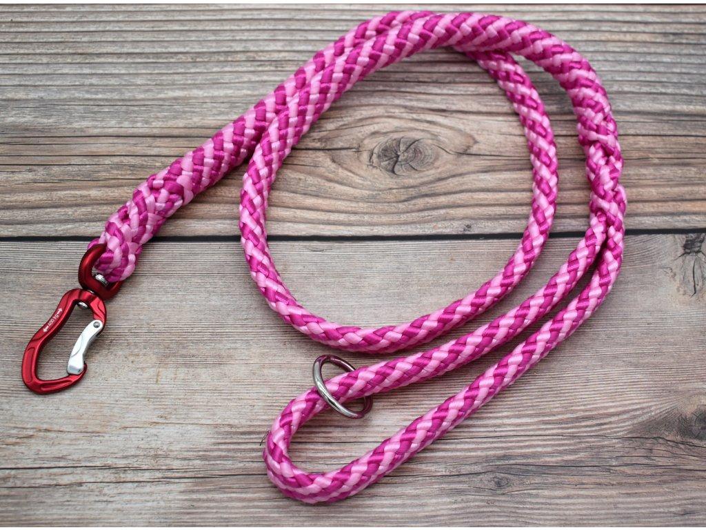 Vodítko klasické pro obří psy - délka 110 cm, ploché lano šířky 17 mm