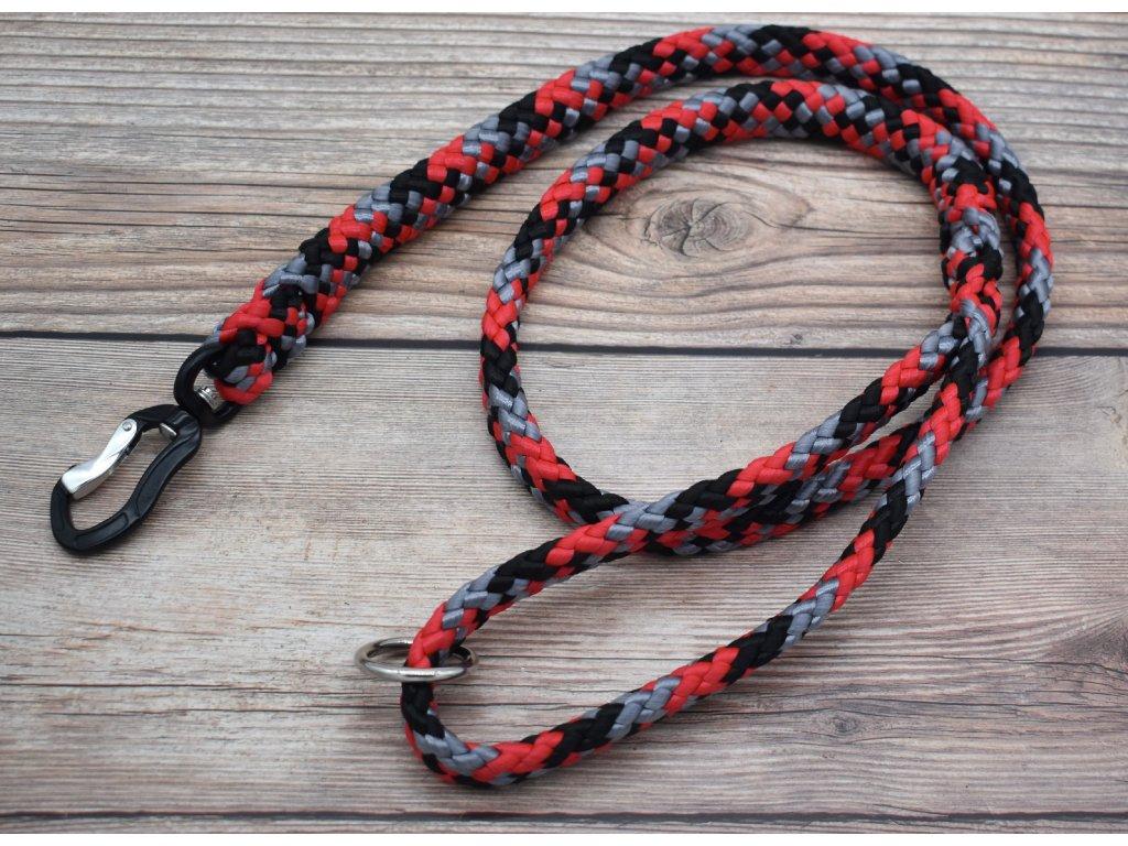 Vodítko klasické pro obří psy - délka 150 cm, ploché lano šířky 17 mm