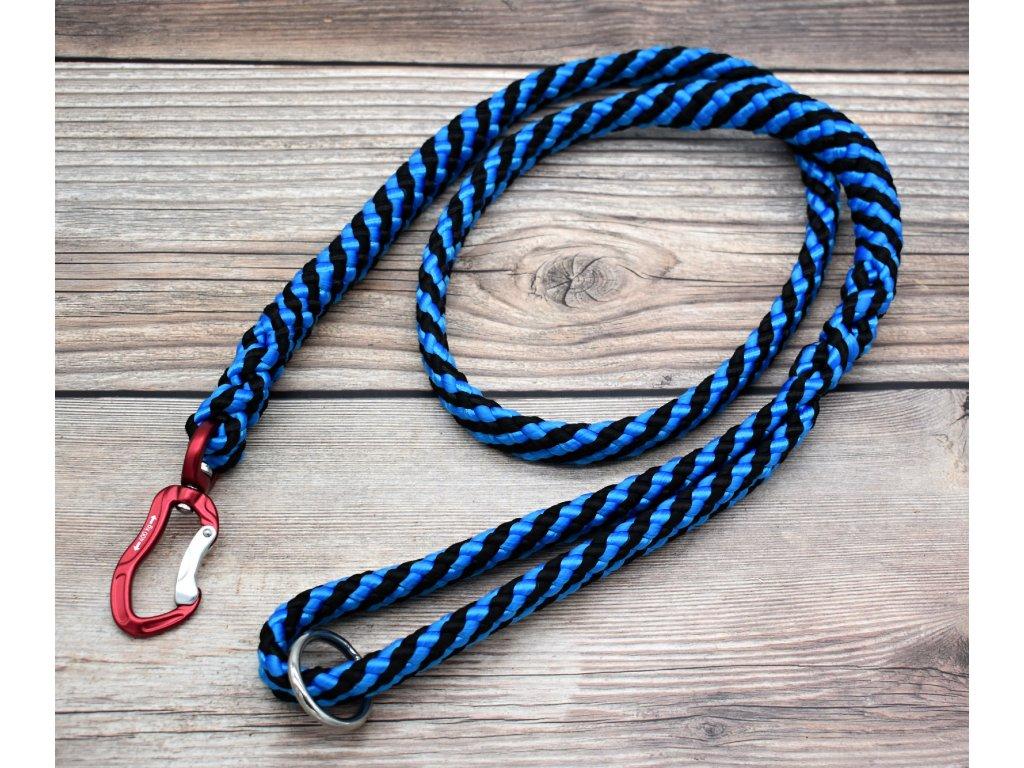 Vodítko klasické pro obří psy - délka 180 cm, ploché lano šířky 17 mm