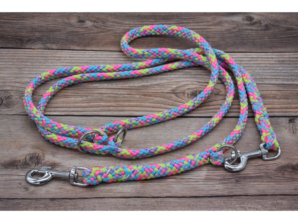 Vodítko přepínací pro obří psy - délka 280 cm, ploché lano šířky 17 mm