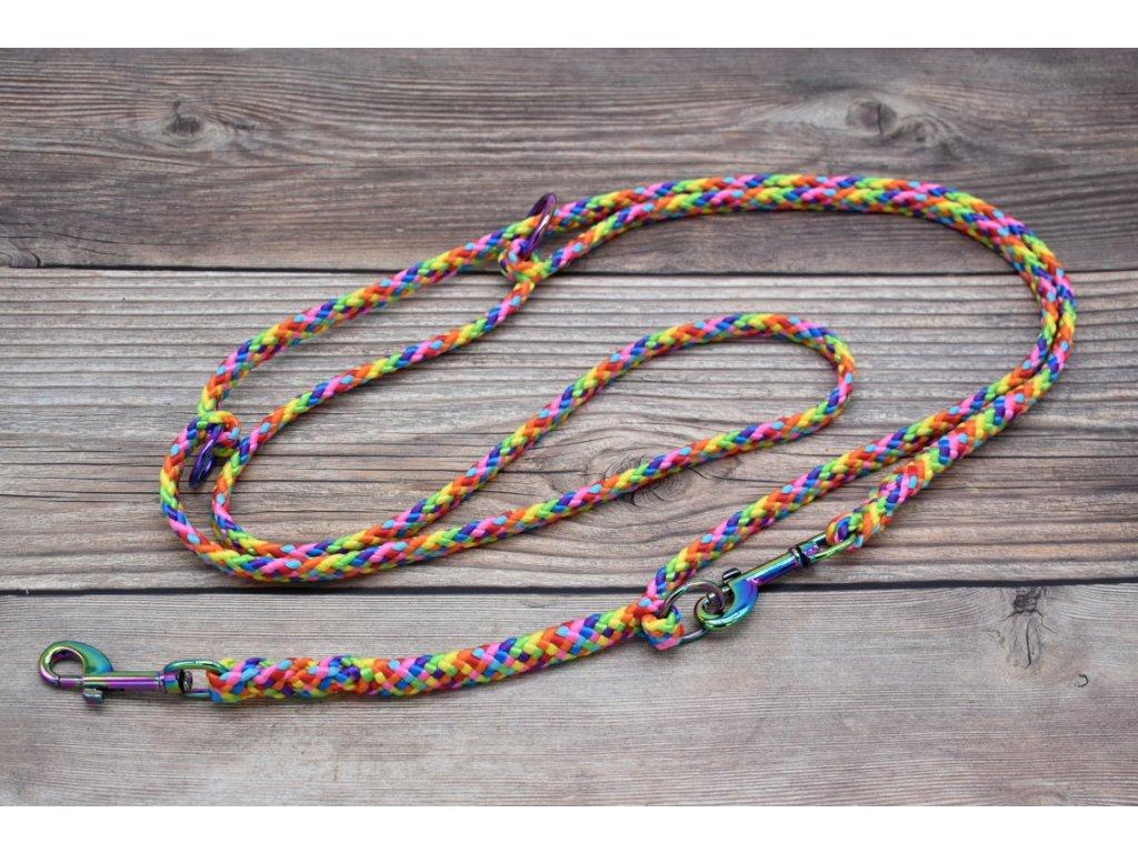Vodítko přepínací pro střední psy - délka 280 cm, ploché lano šířky 13 mm