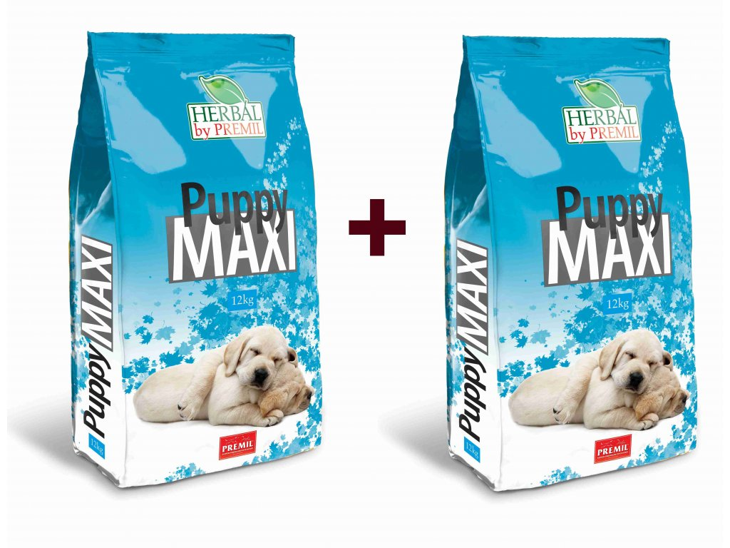 Premil Herbal Puppy Maxi 12+12 kg - výhodné balení