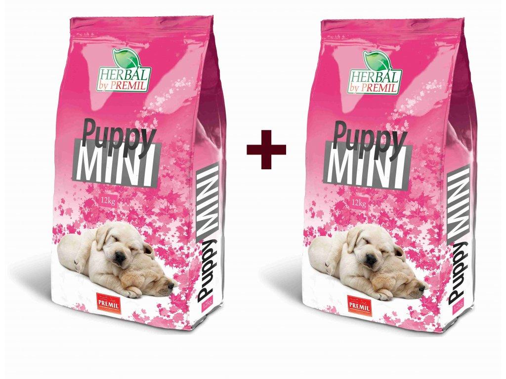 Premil Herbal Puppy Mini 12+12 kg - výhodné balení