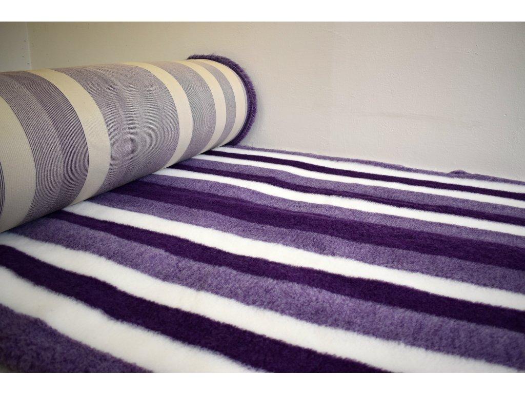 DRYBED fialová bílá pruhy